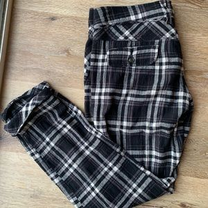 Free People Plaid Trousers
